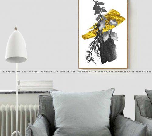 Bo tranh Canvas treo tuong trang tri phong khach truu tuong TT0821