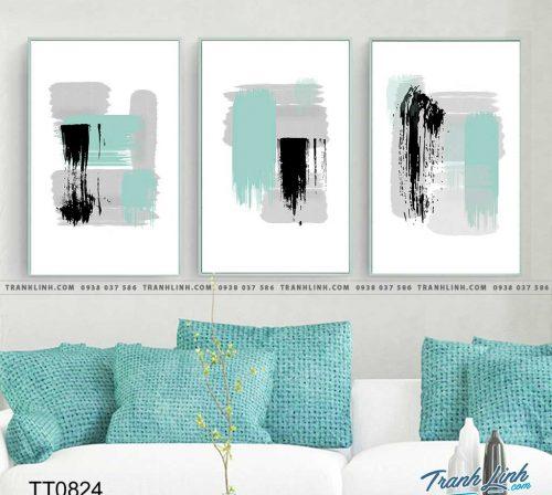 Bo tranh Canvas treo tuong trang tri phong khach truu tuong TT0824