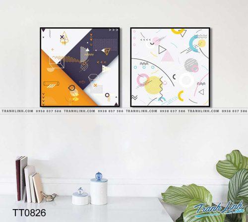 Bo tranh Canvas treo tuong trang tri phong khach truu tuong TT0826