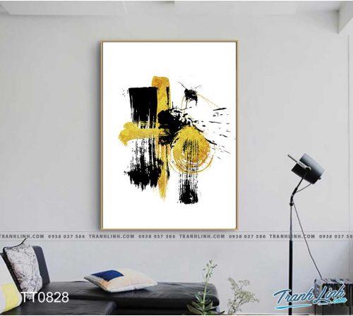 Bo tranh Canvas treo tuong trang tri phong khach truu tuong TT0828