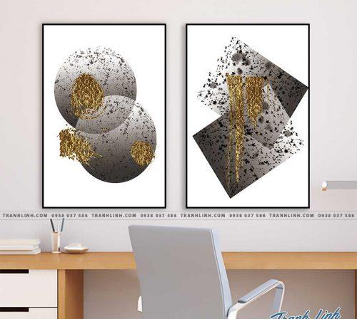 Bo tranh Canvas treo tuong trang tri phong khach truu tuong TT0829