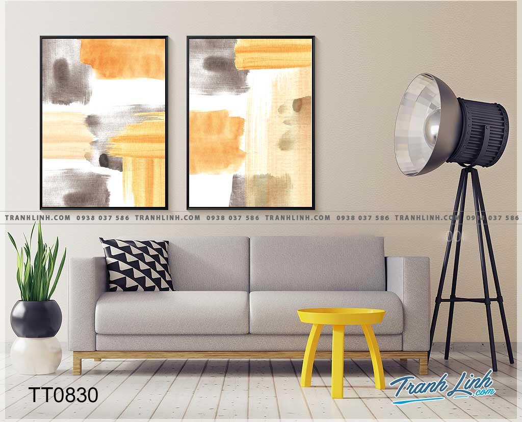 Bo tranh Canvas treo tuong trang tri phong khach truu tuong TT0830