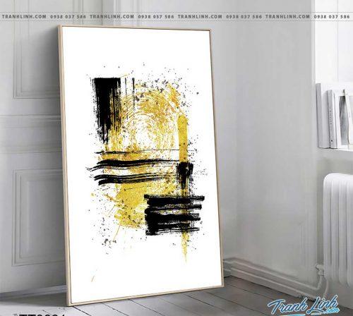 Bo tranh Canvas treo tuong trang tri phong khach truu tuong TT0831