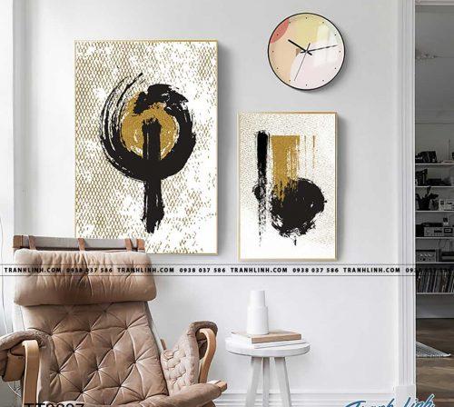 Bo tranh Canvas treo tuong trang tri phong khach truu tuong TT0837