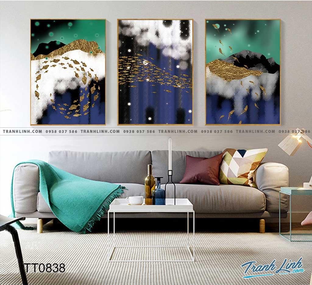 Bo tranh Canvas treo tuong trang tri phong khach truu tuong TT0838