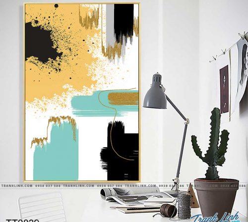 Bo tranh Canvas treo tuong trang tri phong khach truu tuong TT0839