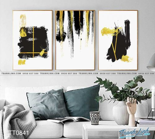 Bo tranh Canvas treo tuong trang tri phong khach truu tuong TT0841