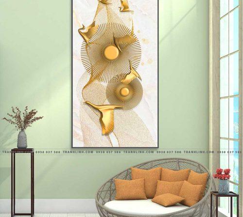 Bo tranh Canvas treo tuong trang tri phong khach truu tuong TT0842
