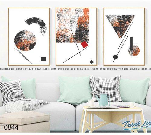 Bo tranh Canvas treo tuong trang tri phong khach truu tuong TT0844