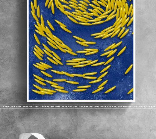 Bo tranh Canvas treo tuong trang tri phong khach truu tuong TT0846