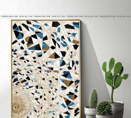 Bo tranh Canvas treo tuong trang tri phong khach truu tuong TT0851