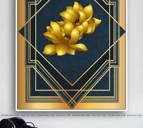 Bo tranh Canvas treo tuong trang tri phong khach truu tuong TT0858