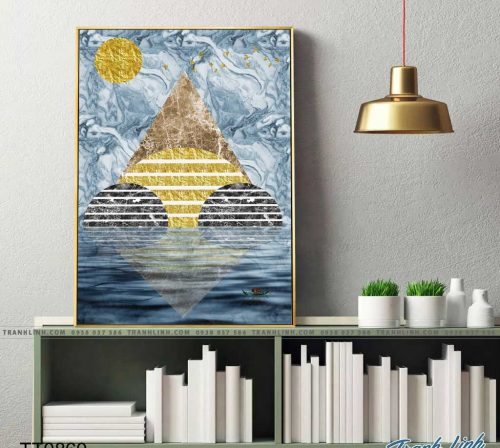 Bo tranh Canvas treo tuong trang tri phong khach truu tuong TT0860