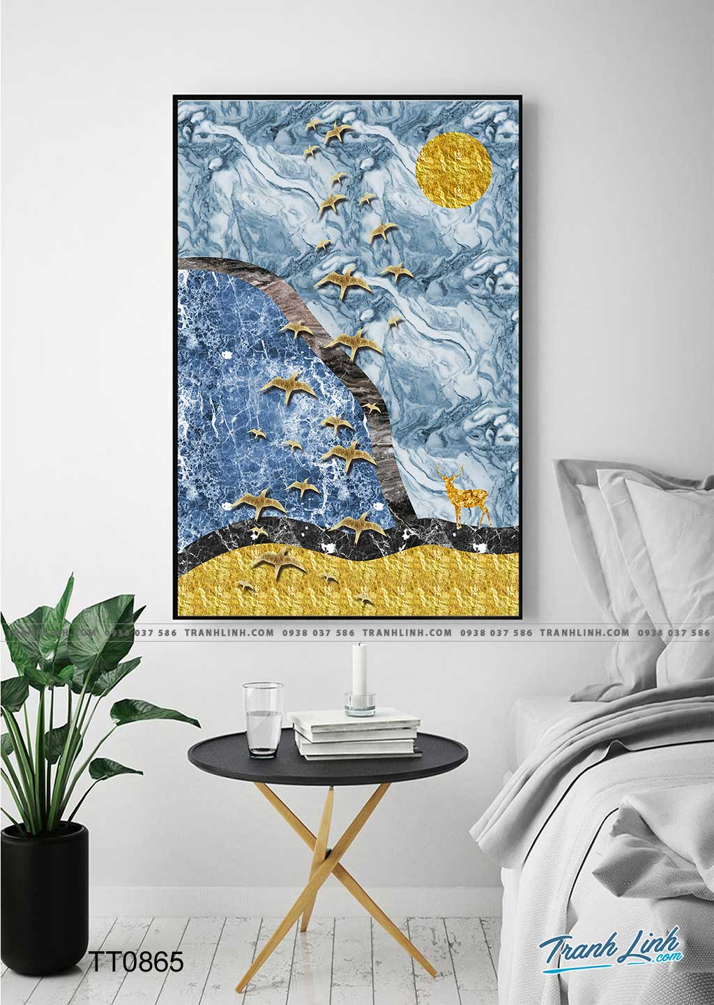 Bo tranh Canvas treo tuong trang tri phong khach truu tuong TT0865
