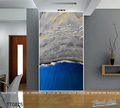 Bo tranh Canvas treo tuong trang tri phong khach truu tuong TT0875