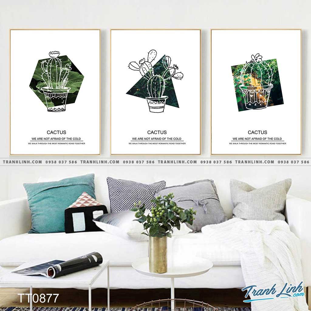 Bo tranh Canvas treo tuong trang tri phong khach truu tuong TT0877