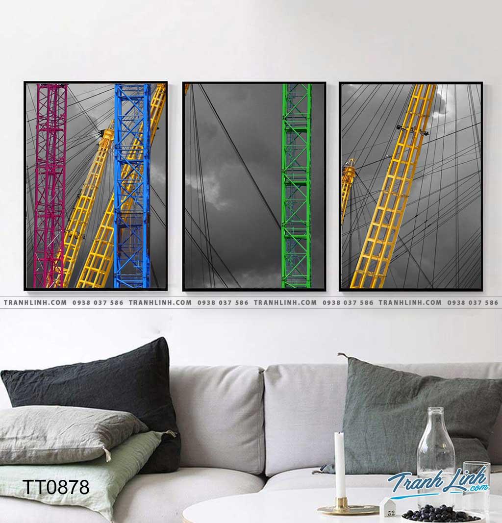 Bo tranh Canvas treo tuong trang tri phong khach truu tuong TT0878