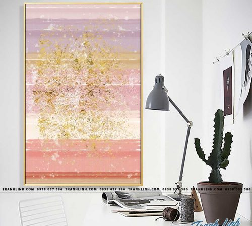 Bo tranh Canvas treo tuong trang tri phong khach truu tuong TT0881