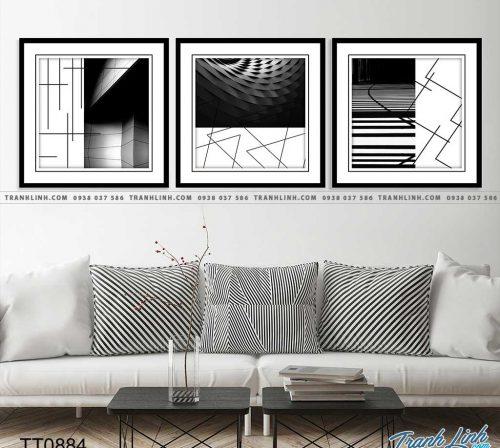 Bo tranh Canvas treo tuong trang tri phong khach truu tuong TT0884
