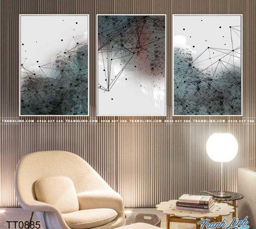Bo tranh Canvas treo tuong trang tri phong khach truu tuong TT0885