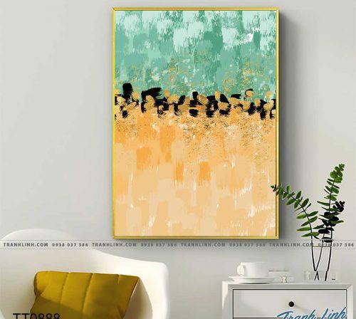 Bo tranh Canvas treo tuong trang tri phong khach truu tuong TT0888