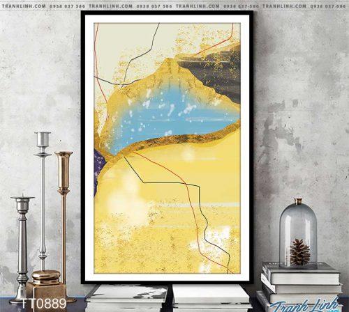 Bo tranh Canvas treo tuong trang tri phong khach truu tuong TT0889