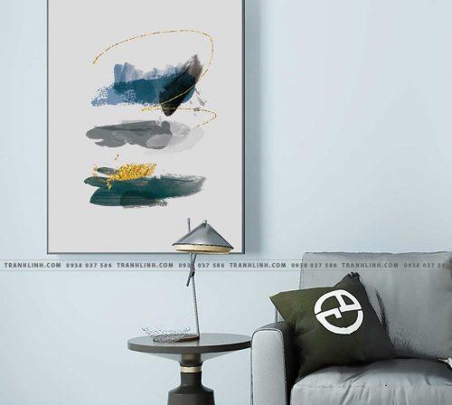 Bo tranh Canvas treo tuong trang tri phong khach truu tuong TT0891