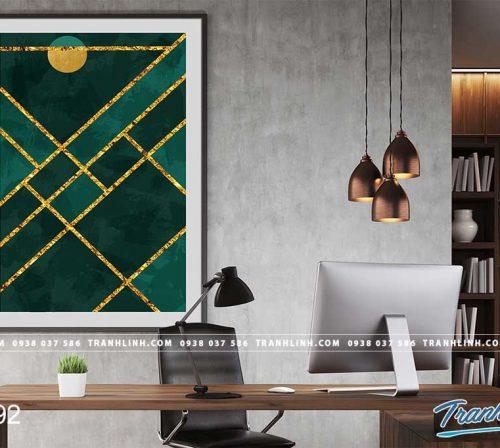 Bo tranh Canvas treo tuong trang tri phong khach truu tuong TT0892