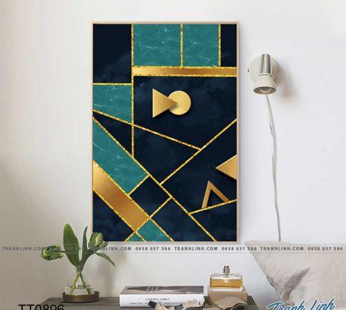 Bo tranh Canvas treo tuong trang tri phong khach truu tuong TT0896