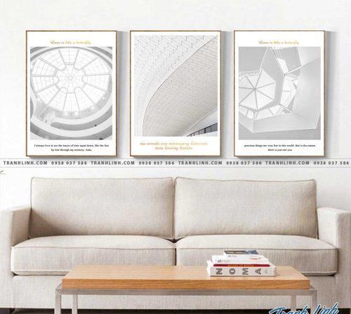 Bo tranh Canvas treo tuong trang tri phong khach truu tuong TT0897