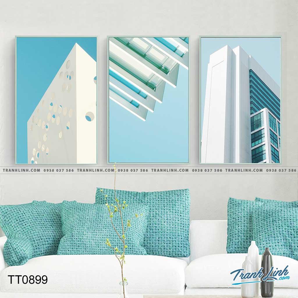 Bo tranh Canvas treo tuong trang tri phong khach truu tuong TT0899