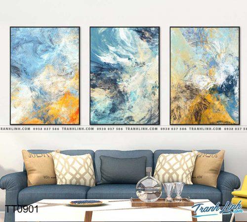 Bo tranh Canvas treo tuong trang tri phong khach truu tuong TT0901
