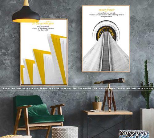 Bo tranh Canvas treo tuong trang tri phong khach truu tuong TT0903