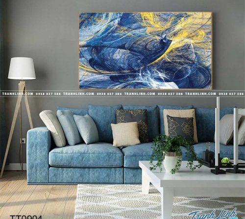 Bo tranh Canvas treo tuong trang tri phong khach truu tuong TT0904