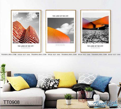 Bo tranh Canvas treo tuong trang tri phong khach truu tuong TT0908