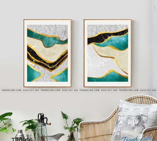 Bo tranh Canvas treo tuong trang tri phong khach truu tuong TT0916