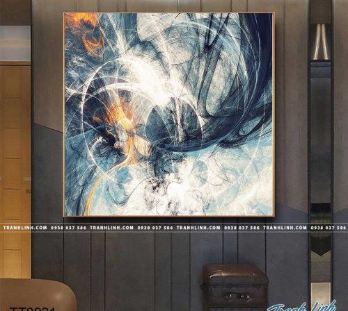 Bo tranh Canvas treo tuong trang tri phong khach truu tuong TT0921