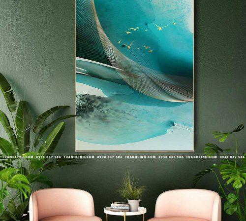 Bo tranh Canvas treo tuong trang tri phong khach truu tuong TT0923