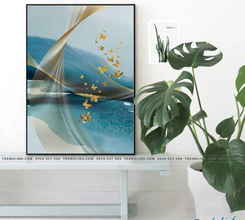 Bo tranh Canvas treo tuong trang tri phong khach truu tuong TT0924