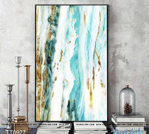 Bo tranh Canvas treo tuong trang tri phong khach truu tuong TT0927