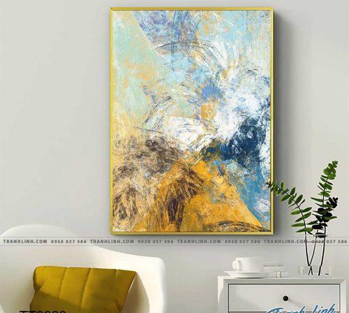 Bo tranh Canvas treo tuong trang tri phong khach truu tuong TT0928
