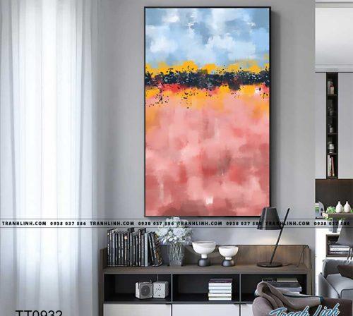 Bo tranh Canvas treo tuong trang tri phong khach truu tuong TT0932