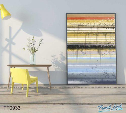 Bo tranh Canvas treo tuong trang tri phong khach truu tuong TT0933