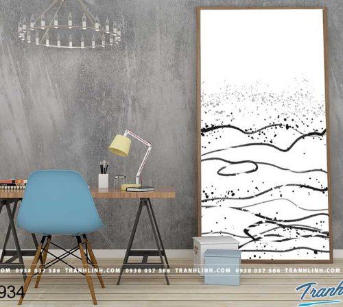 Bo tranh Canvas treo tuong trang tri phong khach truu tuong TT0934