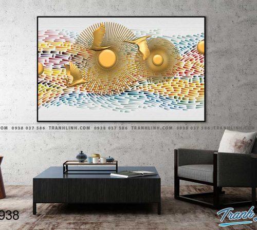 Bo tranh Canvas treo tuong trang tri phong khach truu tuong TT0938