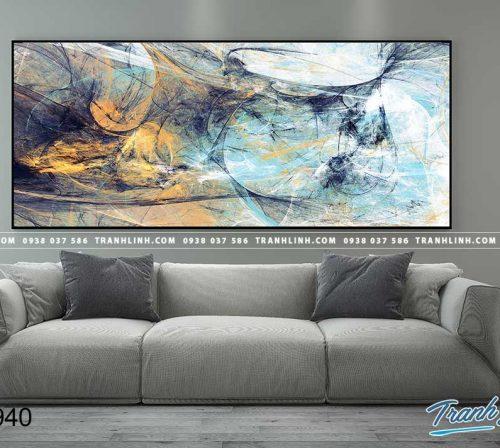 Bo tranh Canvas treo tuong trang tri phong khach truu tuong TT0940
