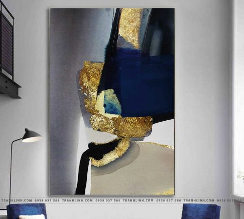 Bo tranh Canvas treo tuong trang tri phong khach truu tuong TT0945