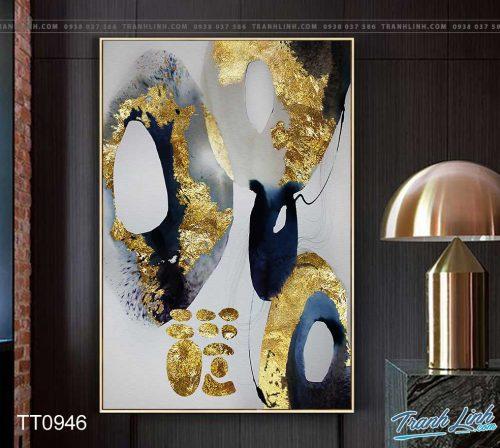 Bo tranh Canvas treo tuong trang tri phong khach truu tuong TT0946