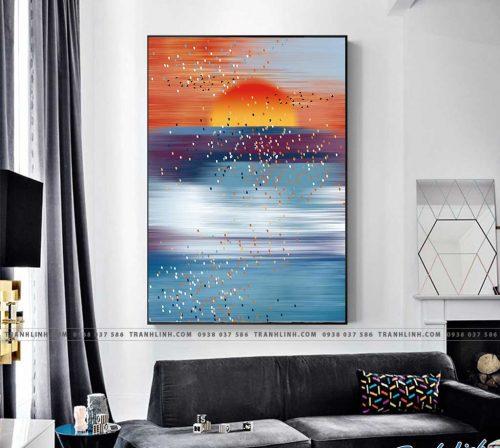 Bo tranh Canvas treo tuong trang tri phong khach truu tuong TT0948
