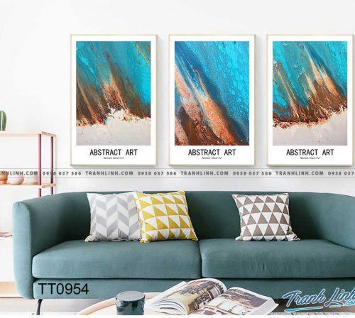 Bo tranh Canvas treo tuong trang tri phong khach truu tuong TT0954